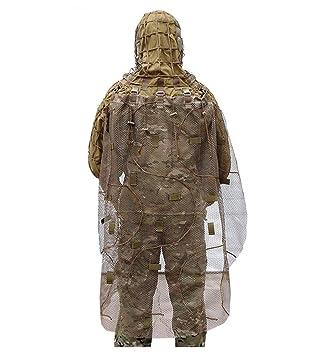 Airsoft traje de camuflaje manto, traje con capucha de ...