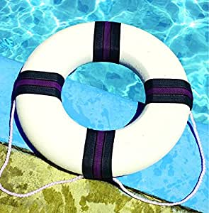 Swimming Pool 18 Diameter Foam Safety Ring Buoy Sports Outdoors