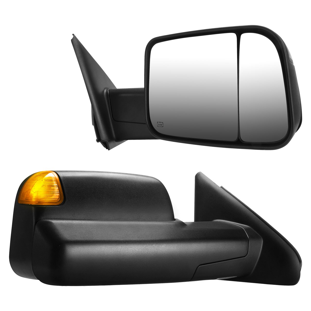 DEDC Dodge Ram Tow Mirrors For Dodge Ram 2002-2009 Dodge Ram 1500 2500 3500 Power Heated With Signal Light Puddle Light