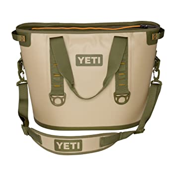 YETI Hopper 30 TWO Portable Cooler (Field Tan / Blaze Orange)