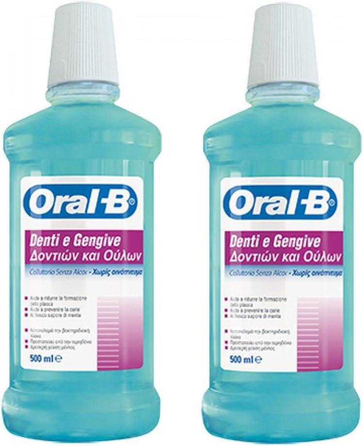 Oral-B enjuague bucal Dientes Encías 500ml Duo Pack: Amazon.es ...