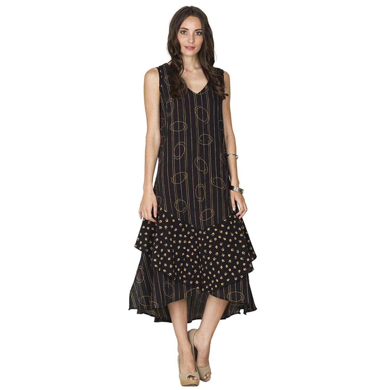 lola moda rmelloses kleid mit r schenschlitz im lagenlook ioco online kaufen. Black Bedroom Furniture Sets. Home Design Ideas