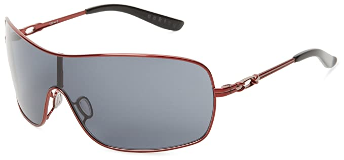 oakley womens sports sunglasses  oakley womens distress oo4073 04 sport sunglasses,cayenne red/grey lens,55