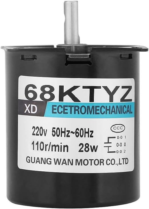 1.00 voltsV 60 Ktyz AC 220 V 28 W piccolo elettrico a bassa velocit/à magnete permanente motore sincrono CW//CCW permanente motore 30RMP coppia elevata motore per giradischi Rotisserie