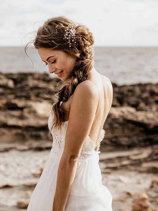 Adorno para el cabello, para bodas, estilo vintage, con piedras brillantes: Amazon.es: Belleza
