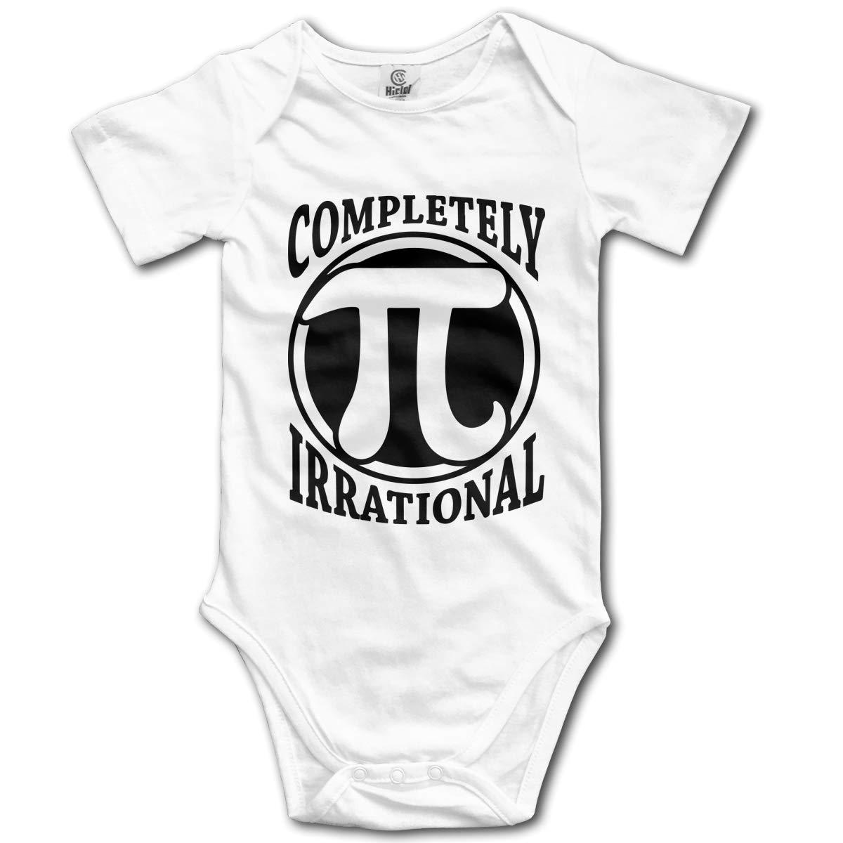CDHL99 Completely Irrational Pi Math-1 Kids Girl Boy Short Sleeve Layette Bodysuit 0-24M