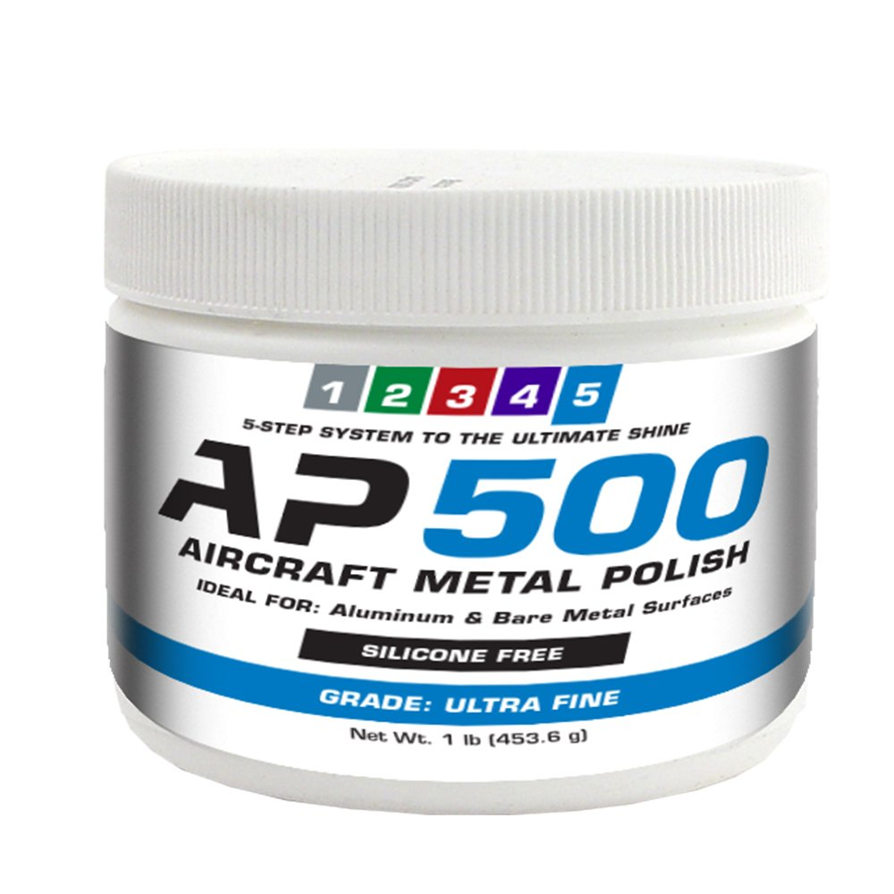 AP500 Aircraft Metal Polish (1lb) - Ultra Fine - for Airplane Aluminum & Bare Metal Surfaces, Brightwork, Meets Boeing & Airbus Requirements by Rolite