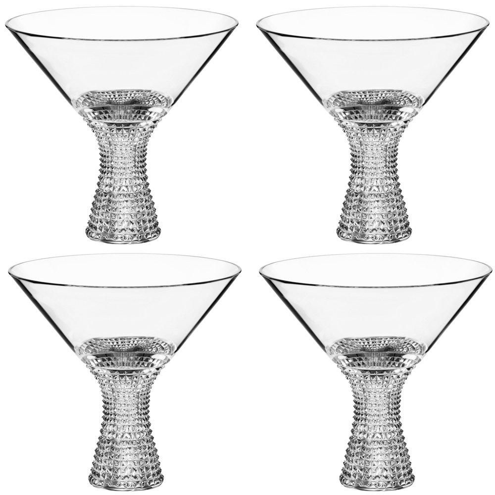 Spiegelau Specialty L&S Diamonds Martini 11.5 oz - 4 pack w/ Pourer