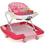 LuvLap Royal Baby Walker with Adjustable Height & Rocker - Pink