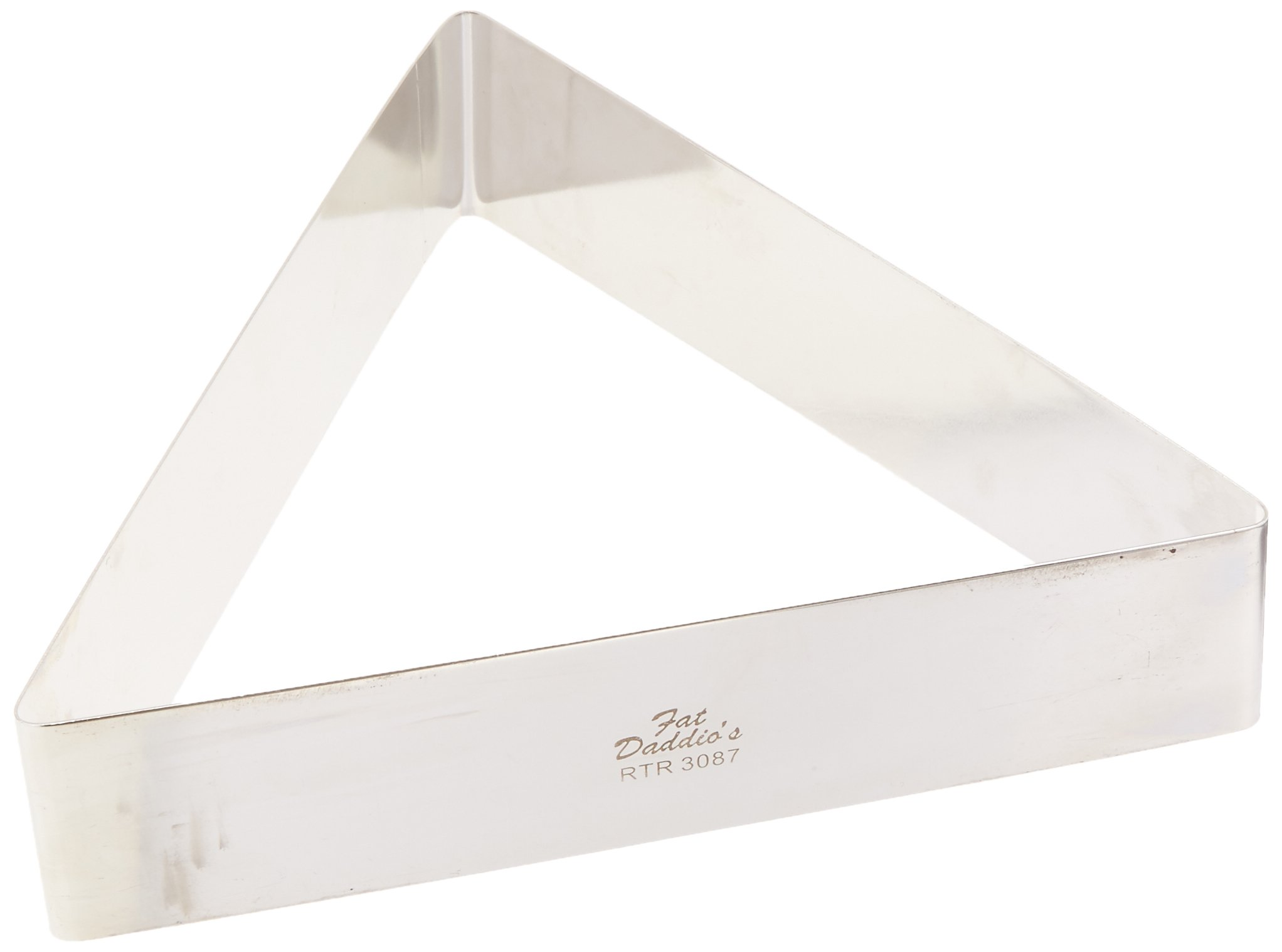 Fat Daddio's Stainless Steel Triangle Cake and Pastry Ring, 8.75 Inch x 2 Inch