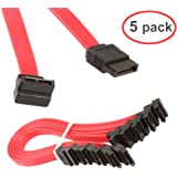 LINESO 9 Inch SATA III 6.0 Gbps Cable 9 Inch 5 PACK