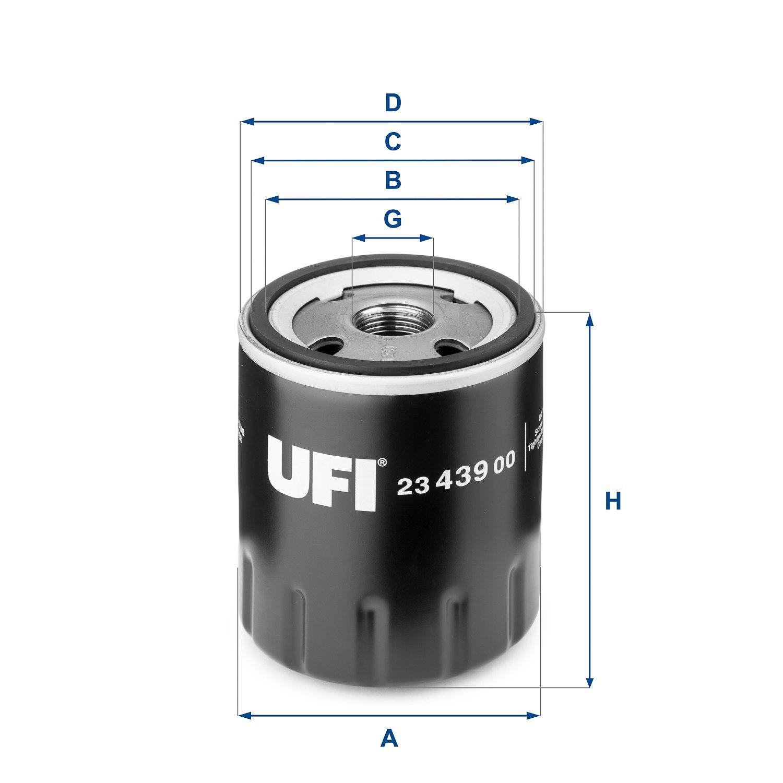 Ufi Filters 23.439.00 Filtro De Aceite