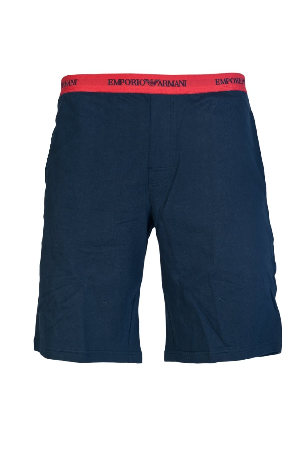 Emporio Armani Men's French Terry Classic Logo Bermuda Short, Marine, Large