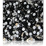 "100% Custom Made (Assorted) 1200 Bulk Pieces of Mini Size ""Glue-On"" Flatback Embellishments for Decorating, Made of Acrylic Resin w/ Shiny Iridescent Crafting Rhinestone Crystal Smoke Style {Black}"