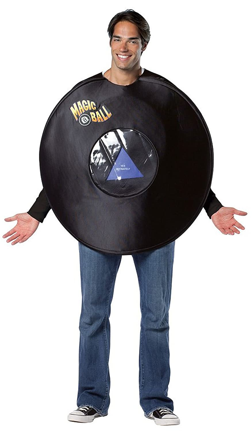 amazoncom magic 8 ball adult costume clothing - Magic 8 Ball Halloween Costume