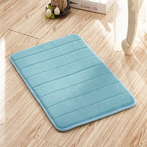 Entrance Welcome Mat Indoor Shoe Scrap Front Porch Decorate Office Foyer Hall Entryway Floor Mat Bedroom Carpet Home Kitchen Rug,Light Blue by Dioline
