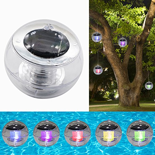 Outdoor Color Changing Solar LED Floating Hanging Lights For Pool Pond Path NEW