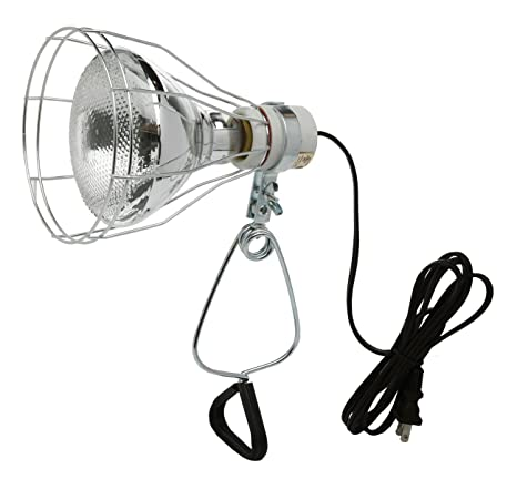 Woods 0324 182 Gauge Brooder And 150 Watt Heat Lamp With Wire Grill