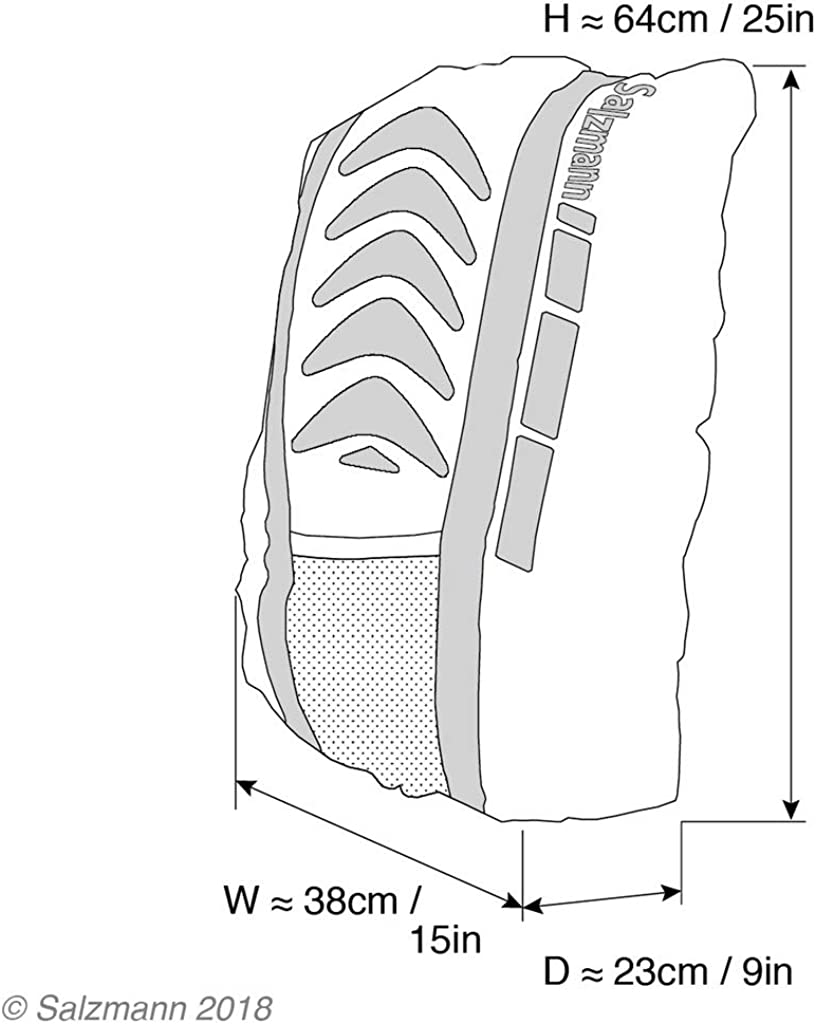 Salzmann 3M Scotchlite Reflective Waterproof Backpack Rucksack Bag Rain Cover UK
