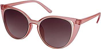 "SIX ""Sommer Damen Sonnenbrille, Sonnenschutz, Cat Eye Rahmen, braun, rosa, goldfarben (324-336)"