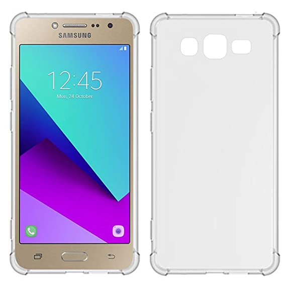 TIYA Case Clear for Samsung Galaxy J2 Prime TPU Four Corners Cover Transparent Soft