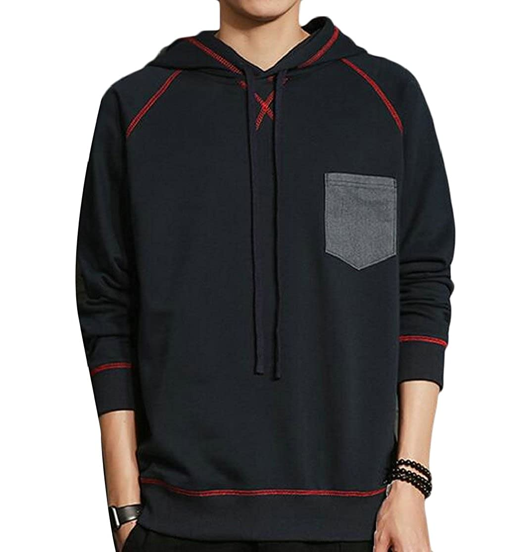 M/&S/&W Mens Hip Hop Long Sleeve Hoodies Pullover Shirts