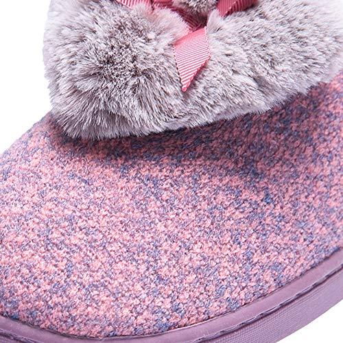 Pantofole Yangyongli nbsp;in Scarpe Bottom Farfalla winered Inverno Caldo Cuore Tenere Interno Nodo Gomma Soft Pantofole Home Tibetanblue nbsp;cotone 39 A Di Forma WrcEr