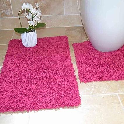 Rapport Tumble Twist per bagno e WC, set, cotone, fucsia, 80 x 50 x ...