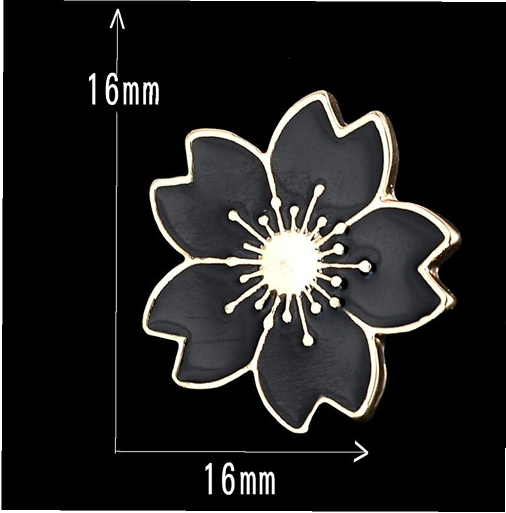 5pcs Broche de Fleurs de Cerisier /épinglettes Set Badges pour Femmes Layette Sacs D/écor