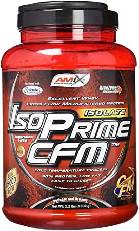 AMIX - Proteína Isolada - IsoPrime CFM Isolate Protein - 1 Kg - Gran Aporte de Aminoácidos - Contiene Enzimas Digestivas - Libre de Aspartamo - ...