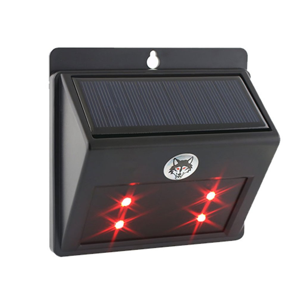 Techinal Solar Wild Animal Driving Expulsion LED Light Garden Paths Fence Outdoor Lamp