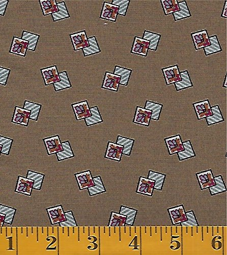 Washington Street Studio by  - Cross Quilt by the Rocky Mountain Quilt Museum #: Drifitting Tile Motif - Light Brown - P&B Textiles cros-352ne