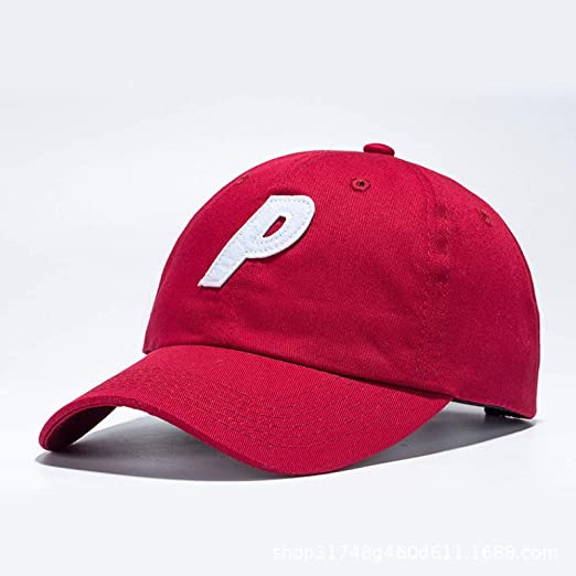 Punto Gorra de béisbol Letra P Bordado Salvaje Sombra Pareja Calle ...