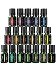 Anjou Essential Oils Gift Set, 18 x 5 mL (Lavender, Sweet Orange, Peppermint, Tea Tree, Eucalyptus, and More) for Diffuser, Humidifier, Massage, Aromatherapy, Skin & Hair Care