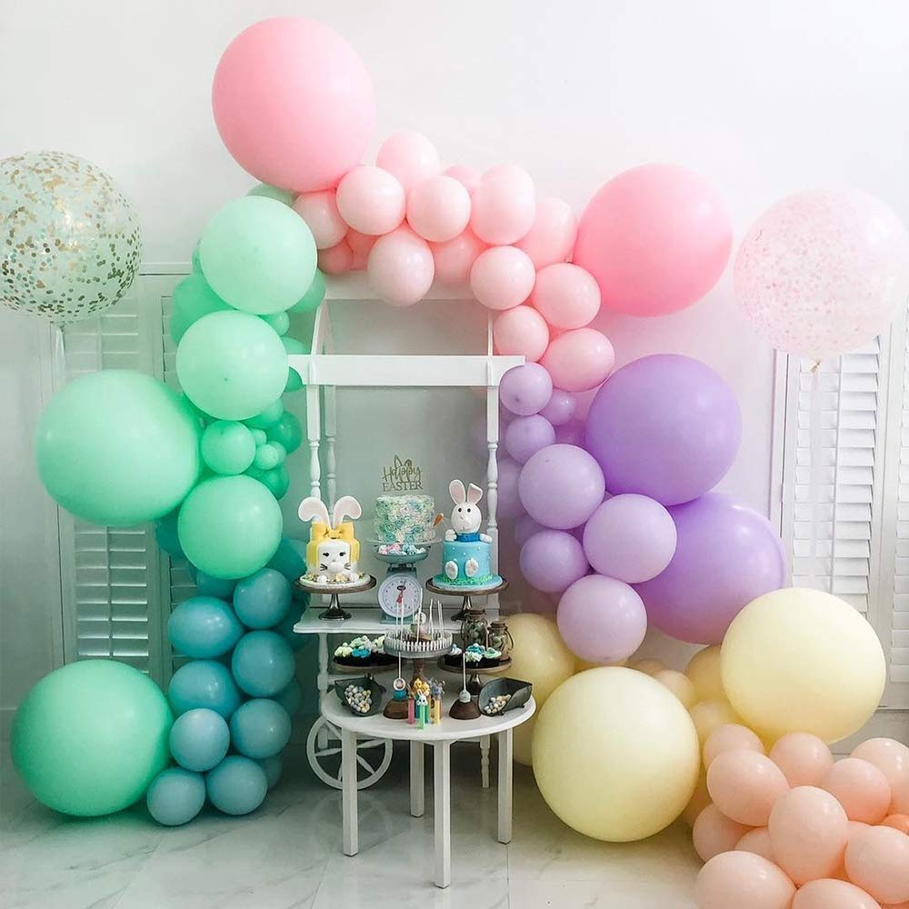 Multicolor Party Pastel Balloons 100 Pcs 10 Macaron Candy Colored Latex Balloons for Birthday Wedding Engagement Anniversary Christmas Festival Picnic or Any Friends /& Family Party Decorations