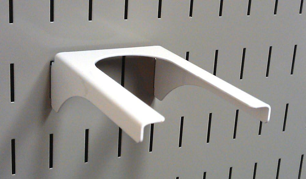 Wall Control Pegboard 2in Handle Pegboard Bracket Slotted Metal Pegboard Hook Pegboard and Slotted Tool Board – White