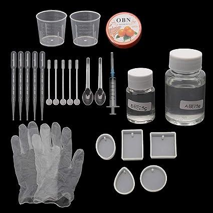 zrshygs DIY Manual Molde de Silicona DIY Resina Epoxi Colgante de Moldes Necesaria Joyería Kit de