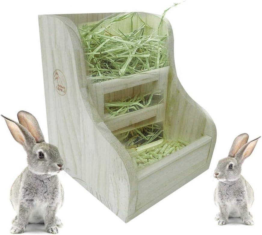 Pet Hay Manger Dish Food Feeder Grass Rack Ball For Rabbit//Guinea Pig//Hamster CA