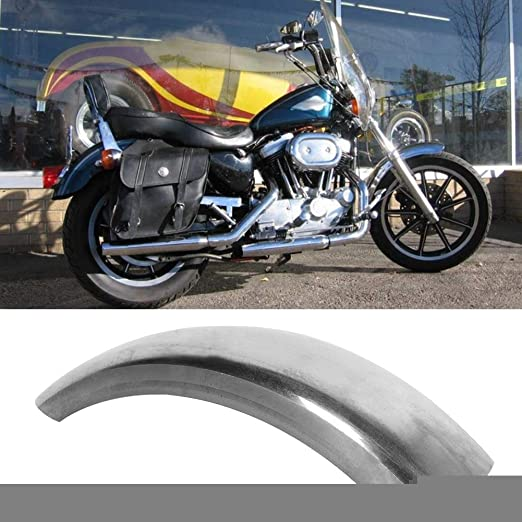 stronerliou Silver Vintage Motorcycle Rear Mudguard Mud Flap Guards Fenders Modification Accessory