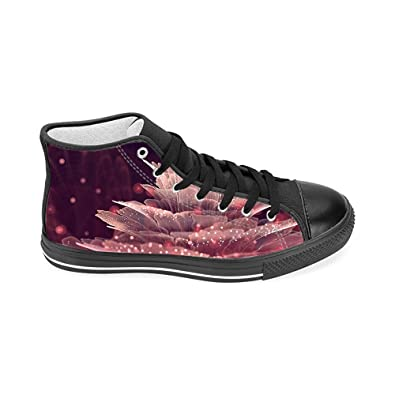 c107ad38b2f17 Amazon.com   High Top Canvas Shoes for Women, Floral High Top ...