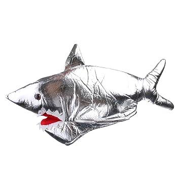 F Fityle Tiburón De Plata Sombrero De Fantasía Sombrero De Peces Traje Halloween Sombrero Sombrero Máscara