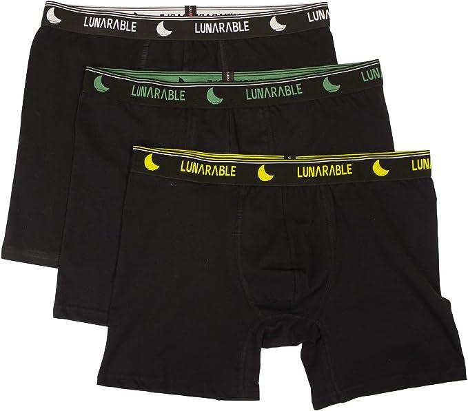 ABAKUHAUS - Calzoncillos Tipo bóxer para Hombre (algodón, 3 Unidades), Color Negro: Amazon.es: Ropa y accesorios