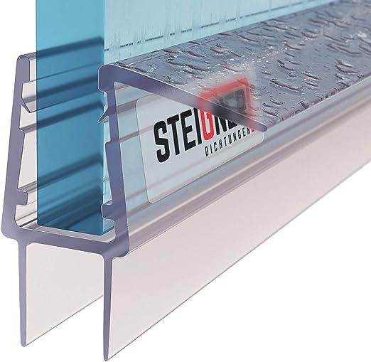 Glasst/ärke 5// 6 mm UK22 Gerade PVC Ersatzdichtung f/ür Dusche 100cm STEIGNER Duschdichtung