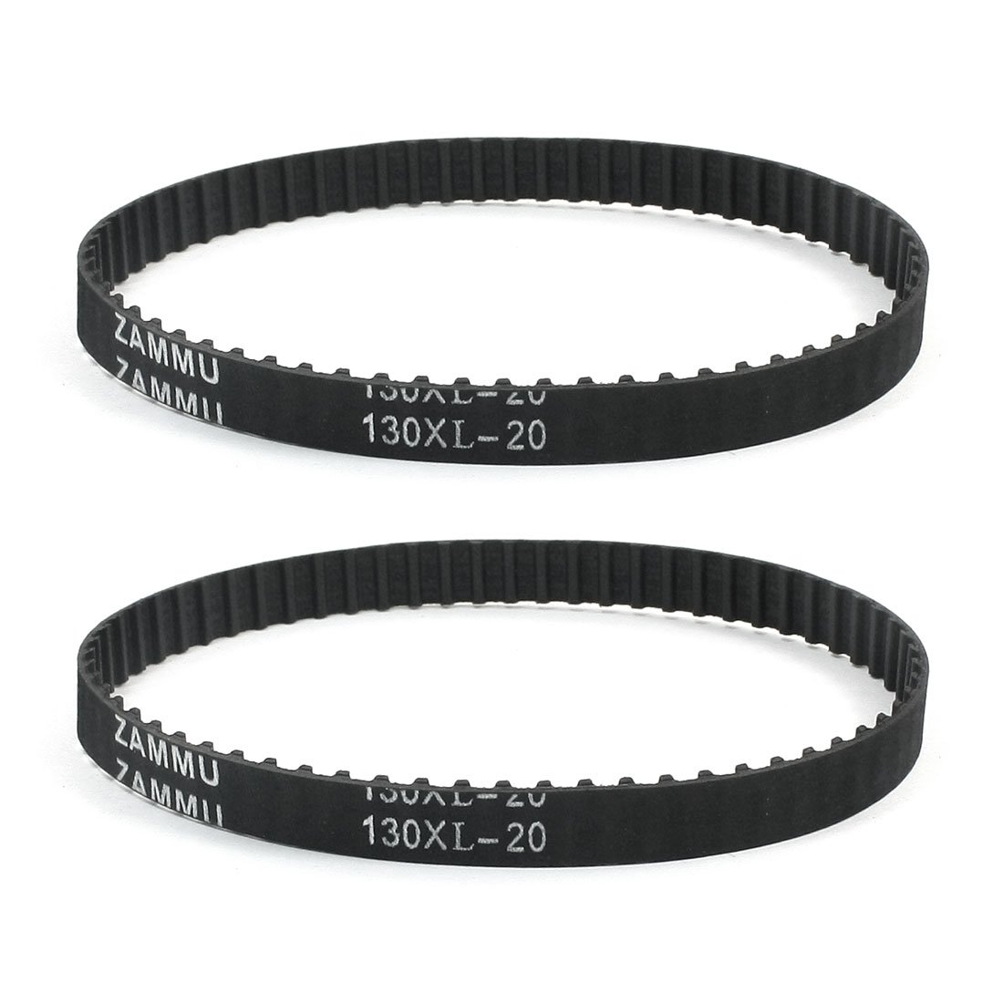 uxcell 2 x 130XL 65 Teeth 10mm Width Rubber Cogged Industrial Timing Belt 13