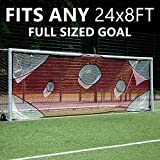 QUICKPLAY PRO Soccer Goal Target Nets with 7 Scoring Zones – Practice Shooting & Goal Shots