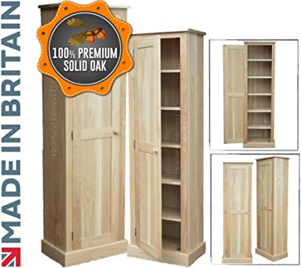 100 Solid Oak Cupboard 172cm Tall Handcrafted Dual Purpose Hallway Pantry Shoe Linen Kitchen Bathroom Storage Cabinet Heartland Oak Range No Flat Packs No Assembly Cup61d Ok Amazon Co Uk Office Products