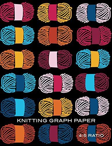 Knitting Graph Paper: Yarn Blank Knitter's Journal, 4:5 Ratio, Design Notebook