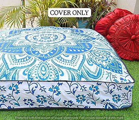 Tapiz indio bohemio asiento cama perro boho suelo almohada hippie ...