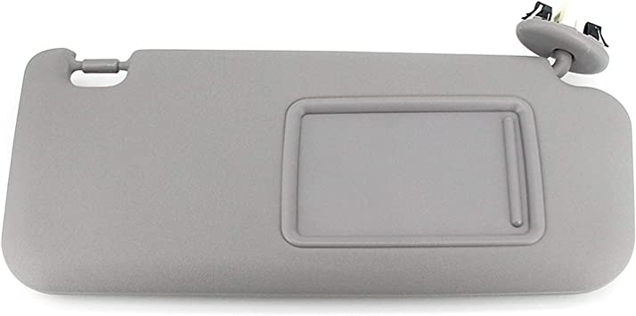 Left Driver Side Sun Visor Replacement for 2006-2013 Toyota RAV4 Gray Replaces 74320-42501-B2 with Sunroof and Light