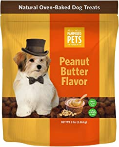Made in USA - Oven-Baked Peanut Butter Dog Treats, Soft and Delicious